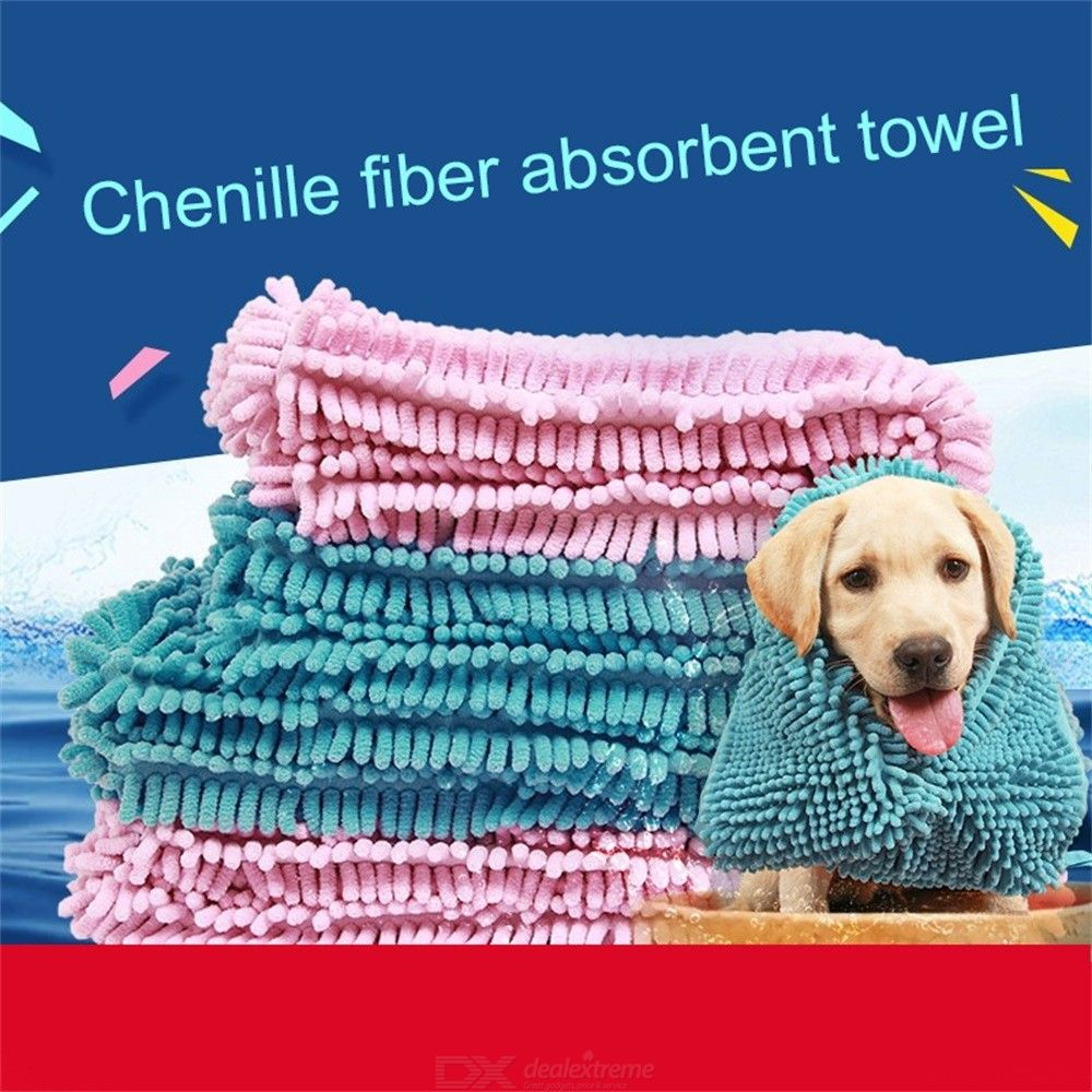 Multipurpose Pet Drying Towel Ultra-absorbent Dog Puppy Bath Blanket Fiber Chenille Clean Towel Pet Product