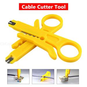 Simple Cable Stripping Punchdown Punch Down Tools Stripper For RJ45 Cat5 - Yellow