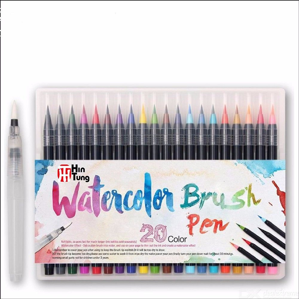 20-Color-Brush-Art-Markers-Colored-Liner-Pen-For-Coloring-Book-Drawing