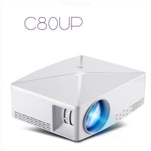C80 UP/C80  1280 X 720 Pixels Mini Amlogic S905X Projector Smart Home Theater Android 6.0 Bluetooth 4.0
