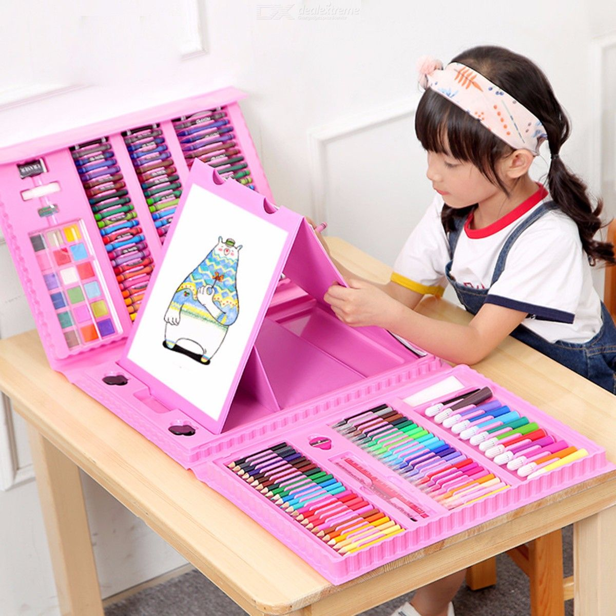 Drawing-And-Painting-Supplies-Art-Creativity-Kit-For-Children-Beginners-208PCS