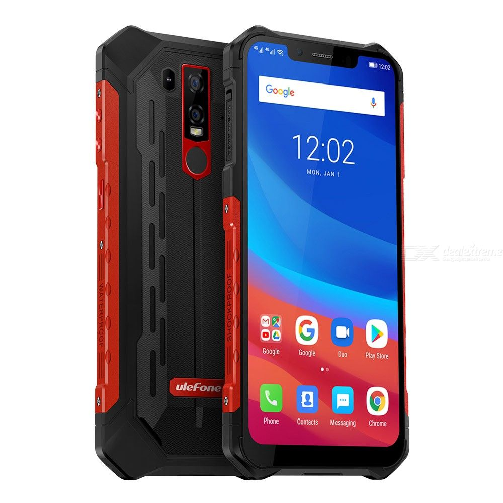 Ulefone Armor 6 Android 8.1 Waterproof 5000mAh Battery Global Version 6.2 inch 4G Phone 6GB RAM 128GB ROM