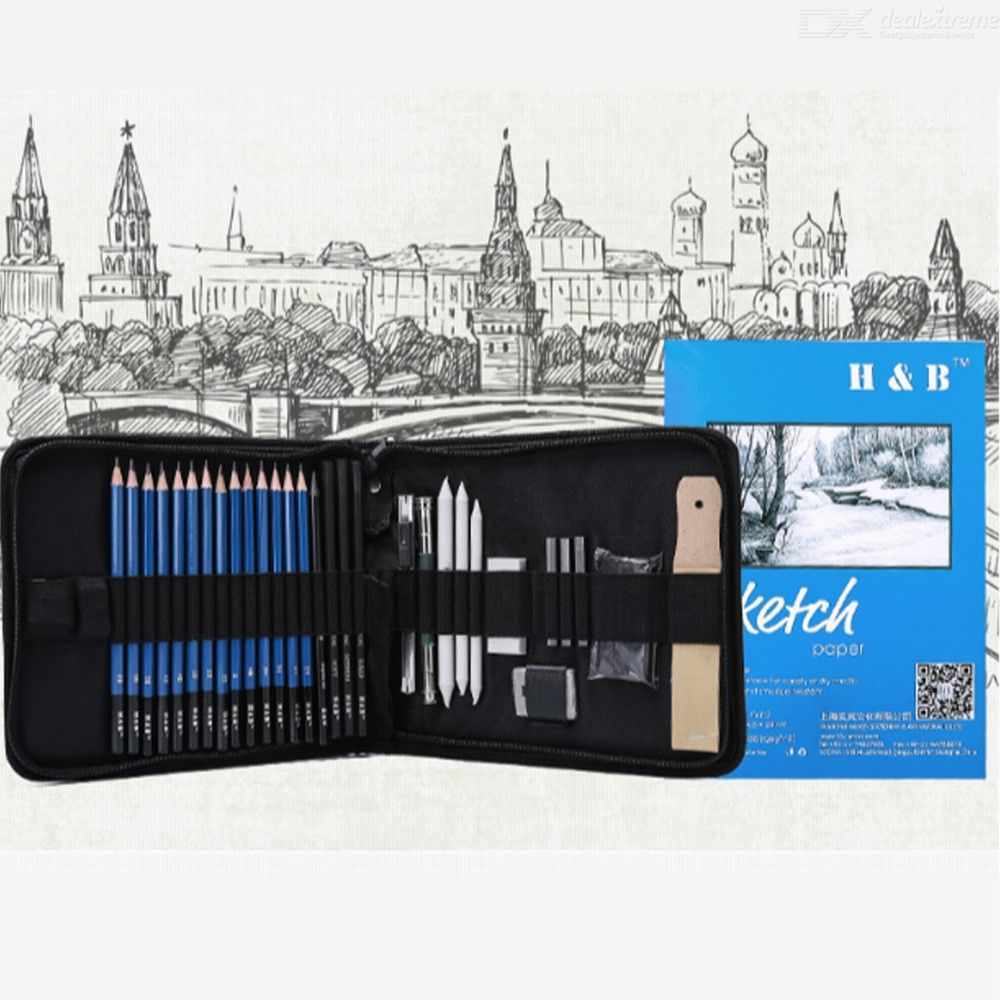 Drawing-Pencil-Pack-Sketching-Pencil-Set-For-Adults-33PCS