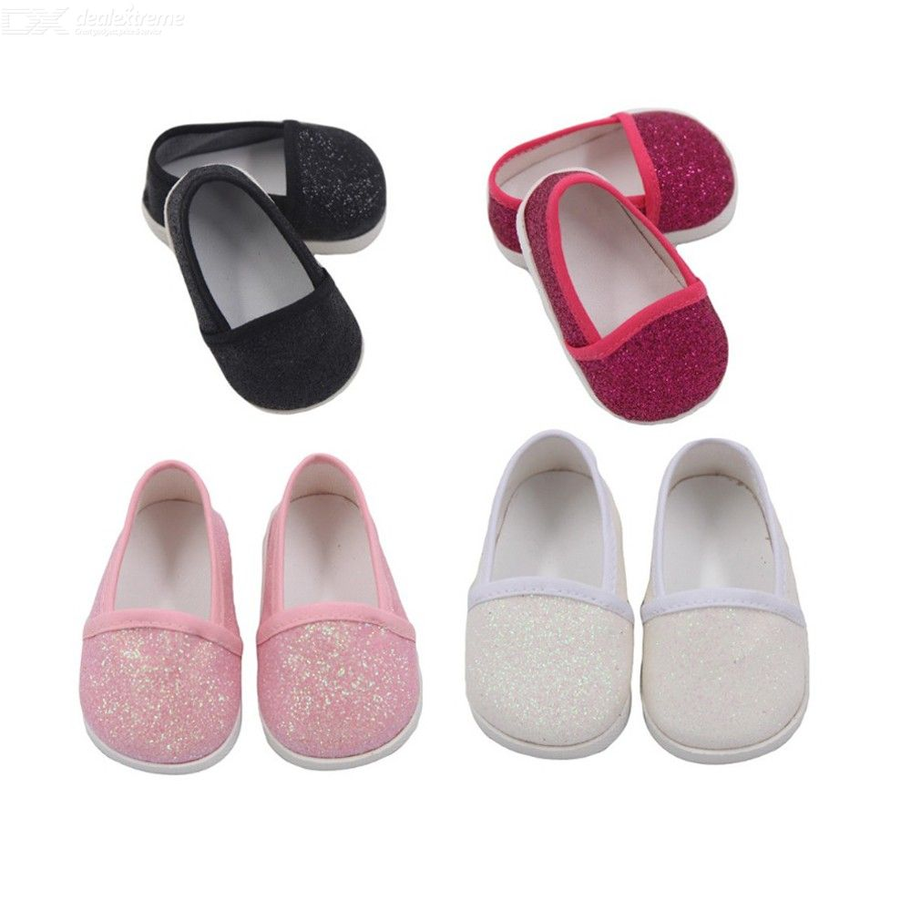 11f4ed0ca2400 Little Glitter Shoes Blingbling Clothing Accessories For 18 Inch American  Girl Doll