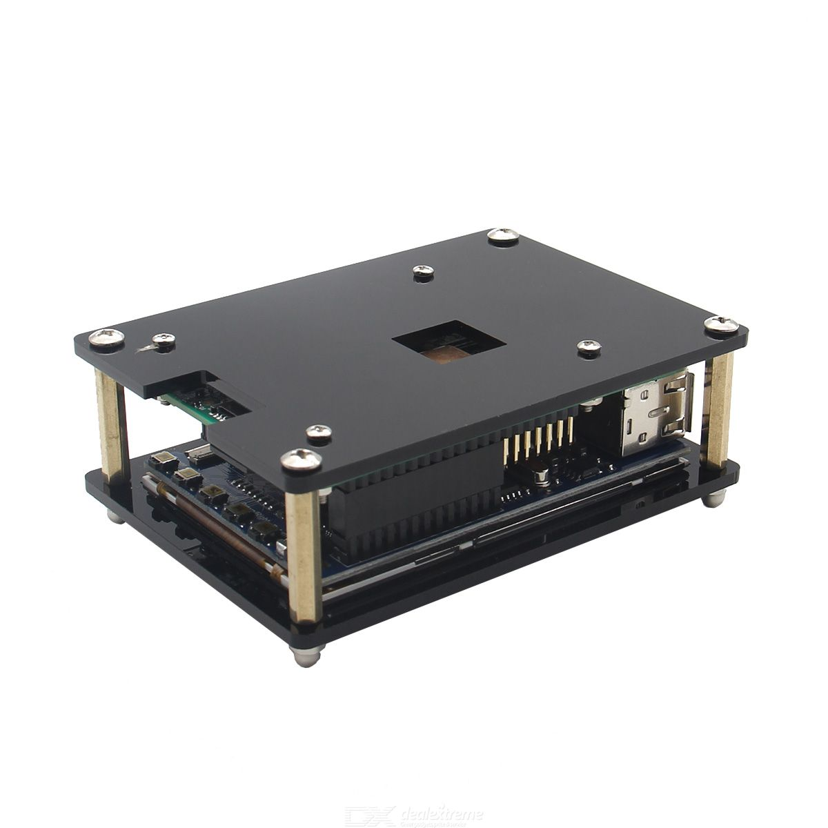 Geekworm Acrylic Case with 3.5quot HDMI Touch Screen Set for Raspberry Pi
