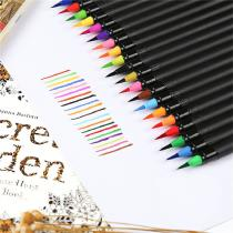 20-Color-Fountain-Pen-Colored-Brush-Pen-Set-For-Coloring-Book-And-Page