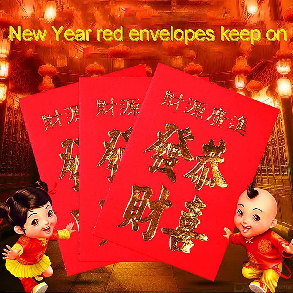 30pcs New Year Red Envelope Chinese Red Pocket Spring Festival Red Rapper