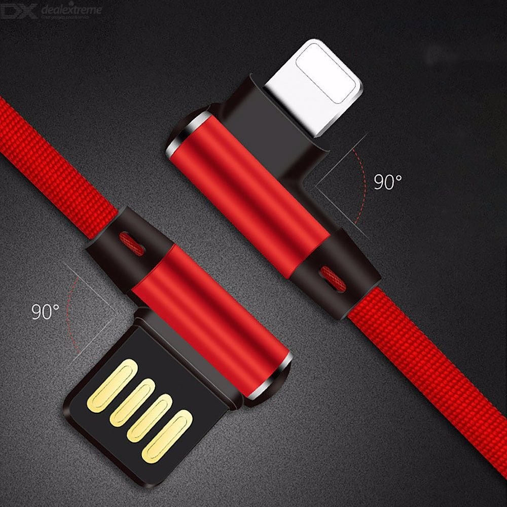 Bent Lightning Cable Extra Long Charging And Syncing Cord For IPHONE