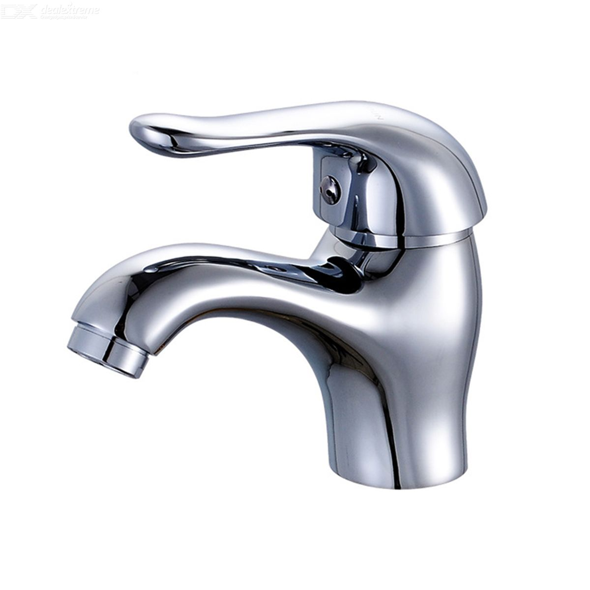 F-1613 Chrome Finish Brass Single Handle Sink Faucet - Silver