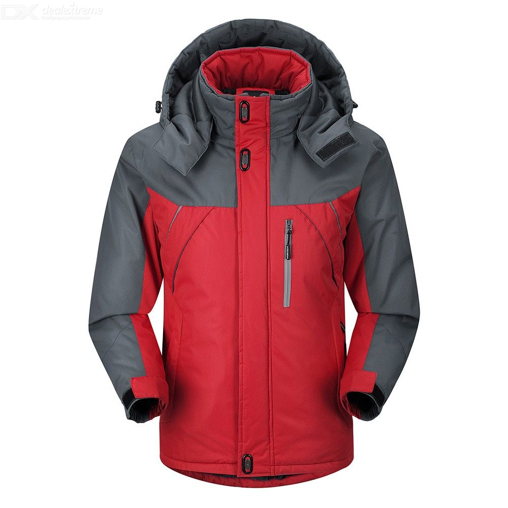 Mens Stylish Hiking Jacket Waterproof Quilted Windbreaker