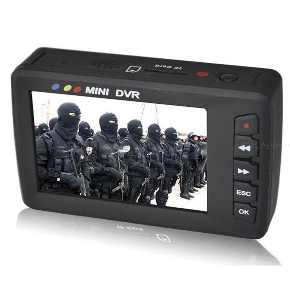 Quelima Portable Video Recorder Mini DVR Angel Eye AV Output Loop Video Camera US Plug