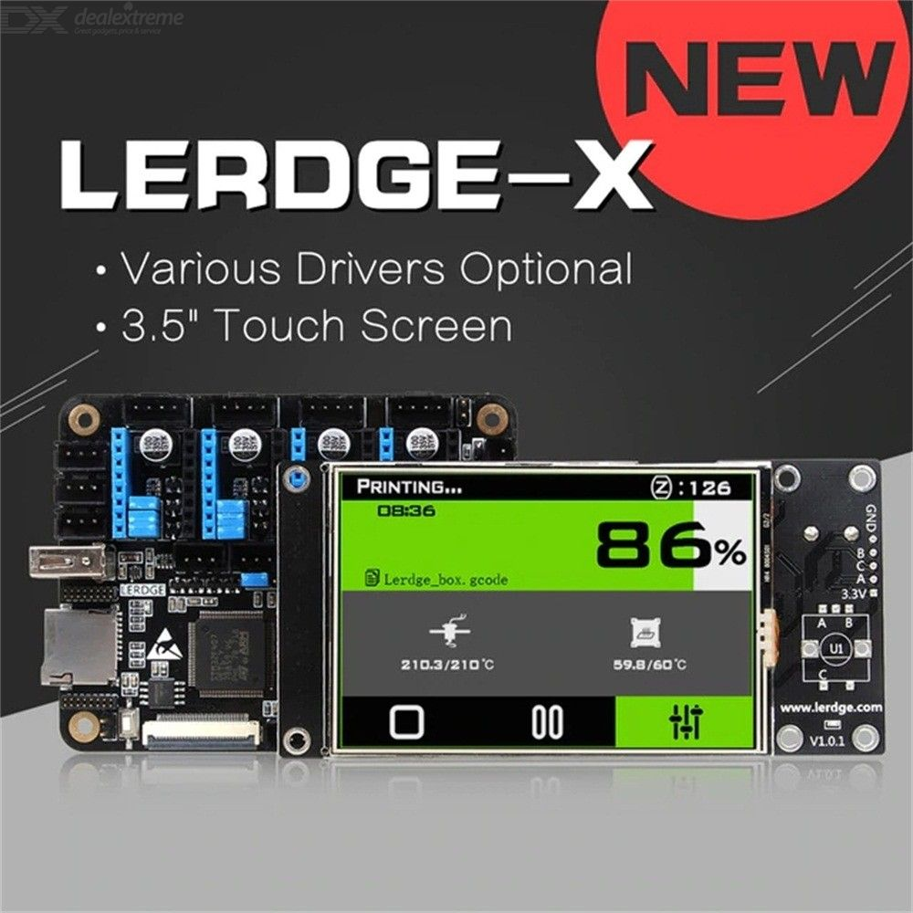 LERDGE-X 3D Printer Controller Board For Reprap 3D Printer With TMC2208 Drive Motherboard And 3.5 Inches Touch Screen