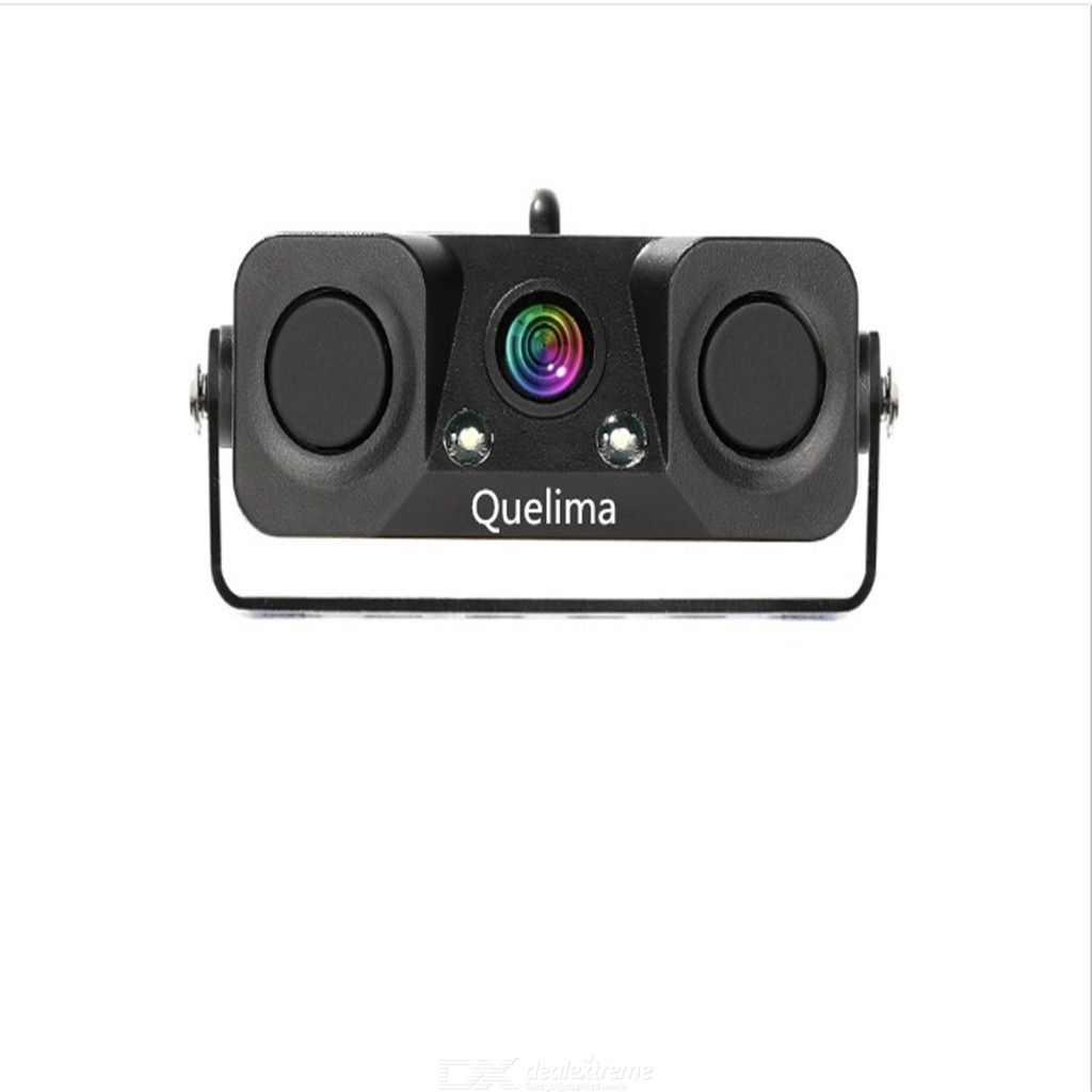 Quelima Upgrade Version Of The Two-In-One Car Radar Reversing Alarm Camera (With Ruler Line)