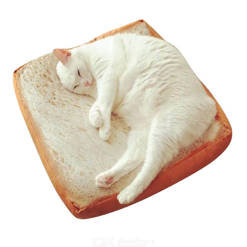 Creative Toasted Bread Cushion Pets Toast Pillow Kids Birthday Gift 40CM Home Bakery Shop Decoration Plush Pillow Toy Cushion
