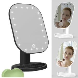 Durable LED Lighted Touch Screen Mirror Cosmetic Makeup Shaving Magnifying 1 X 10 Mirror Plastic Mirror