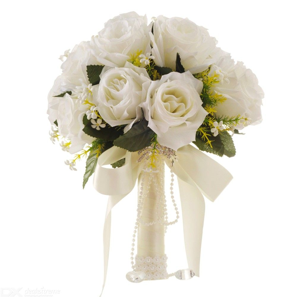 Western-Style-White-Artificial-Bouquet-Bride-Holding-Flowers-Wedding-Supplies