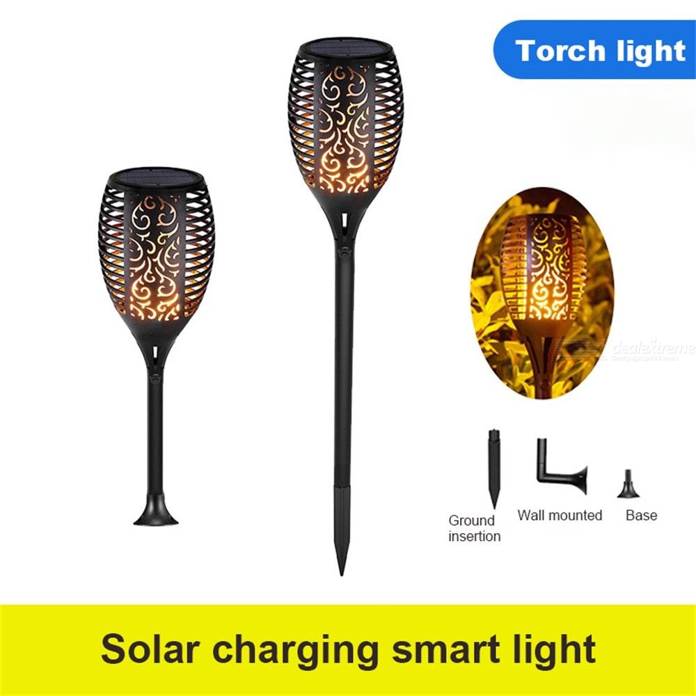 LED Waterproof Flickering Flame Solar Torch Lights Garden Lamp Outdoor Landscape Decoration Lawn Light