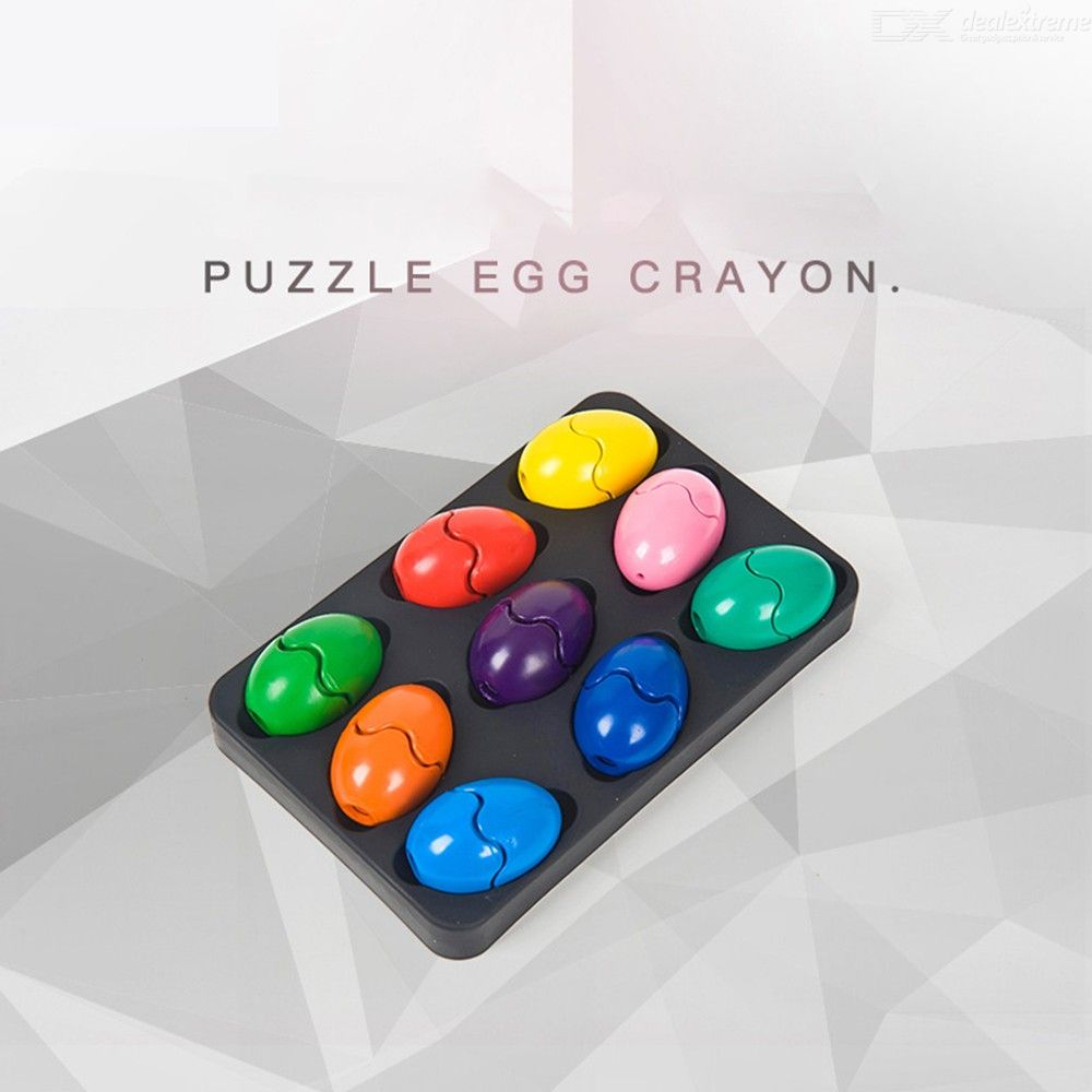 Non-Toxic Painting Crayons Creative Egg Pastel 9 Colors Art Drawing For Children Painting Crayon Brush Art