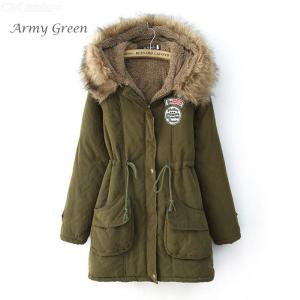 Winter Women's Fur Coat Hooded Casual Thick Cotton Warm Jackets Outwear