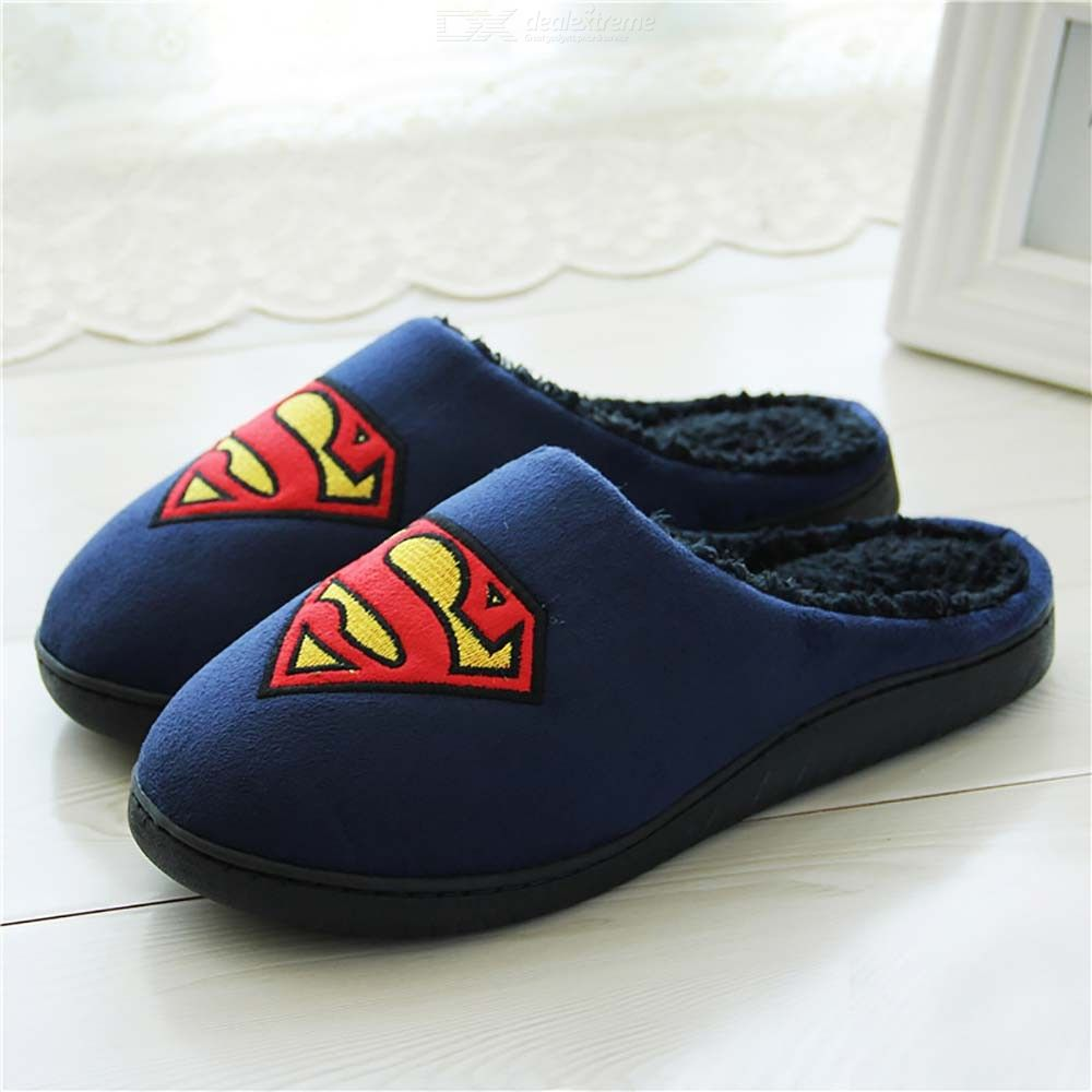 Home-Batman-Slippers-Lovers-Funny-Adult-Winter-Warm-Shoes-Fur-Funny-Slippers