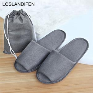 Simple Slippers Hotel Travel Spa Portable Folding House Disposable Guest Indoor Shoes 28cm