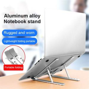 Adjustable Laptop Stand Foldable Aluminium Alloy Holder Mount For Up To 15.6 Inch PC