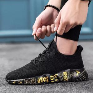 Breathable Woven Sneakers Casual Mesh Shoes For Men