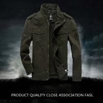 Winter Thick Plus Size Military Army Pilot Bomber Jacket Tactical Man Coat