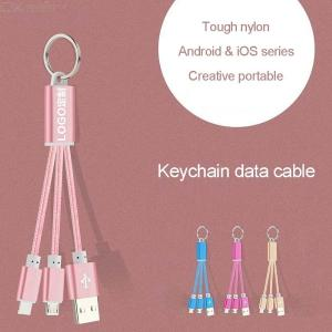 2-in-1 Charge Cord Short Lightning Micro USB Charging And Syncing Cable