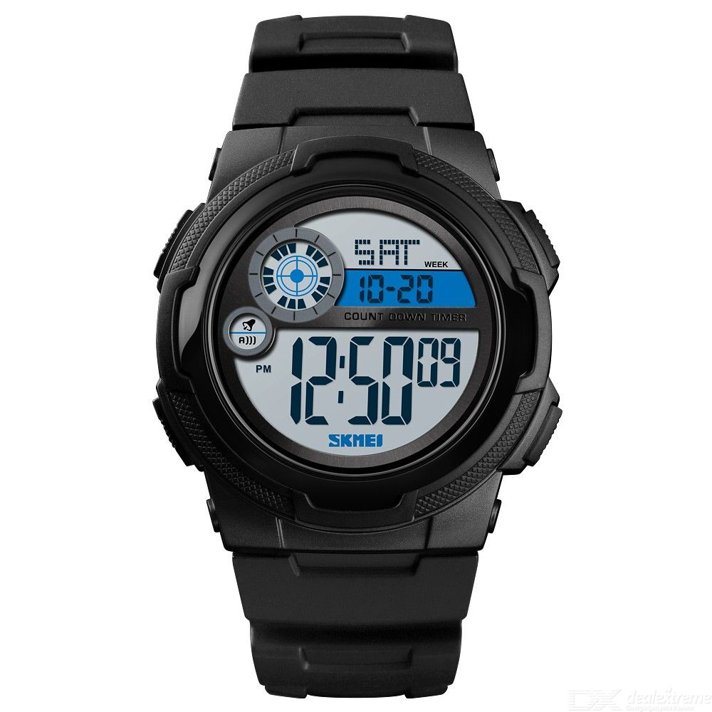 SKMEI Dual Display LED Digital Wristwatches Sport Waterproof Watch For Men 1437