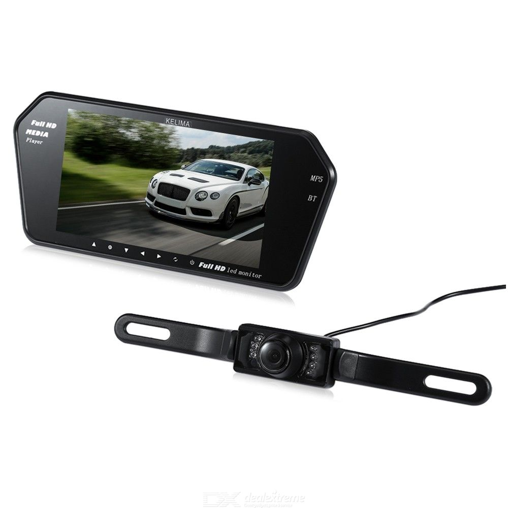 Kelima 7 Inch New Bluetooth MP5 Car Display + Infrared Night Vision License  Plate Camera
