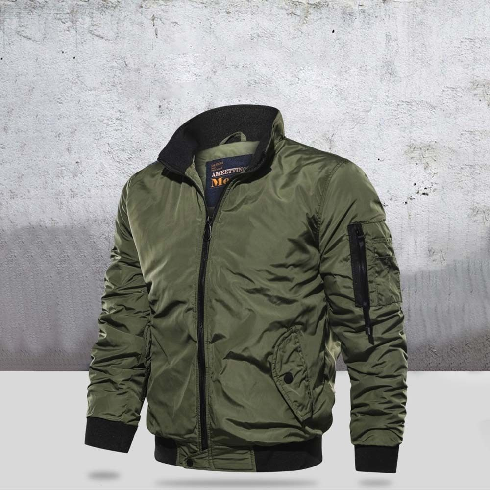 Thick Solid Coats Military Motorcycle Aviator Pilot Air Men Bomber Jacket
