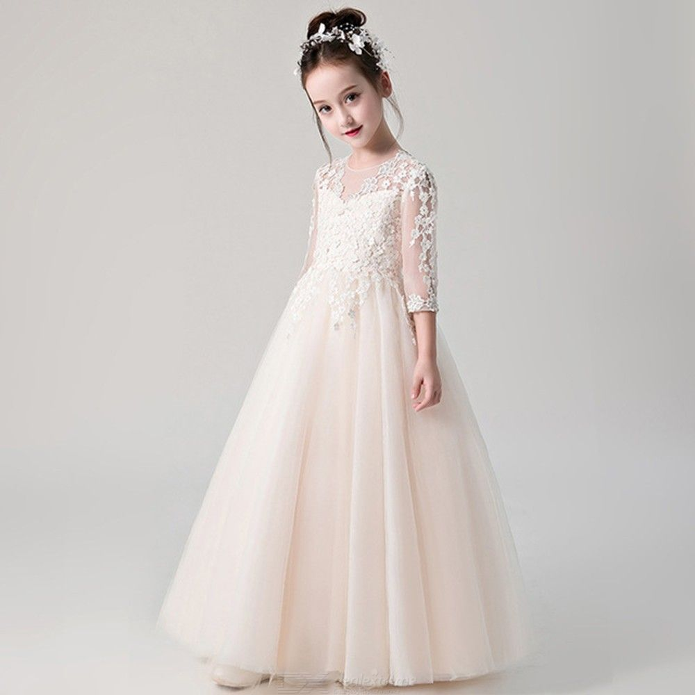 Elegant-Dress-Princess-Lace-Flower-Ball-Gown-Dresses-For-Girls