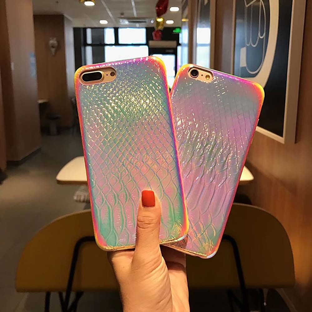 Glossy Protective Case Creative Grain Cover For IPHONE 7 8 7 PLUS 8 PLUS XR XS XS MAX