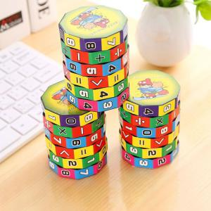 Digital Magic Cube Plastic Kids Cylinder Math Addition Subtraction Calculation Training Toy For Children Early Education