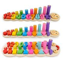 Children-Wooden-Montessori-Learning-Counting-Numbers-Matching-Digital-Shape-Early-Education-Teaching-Math-Toys