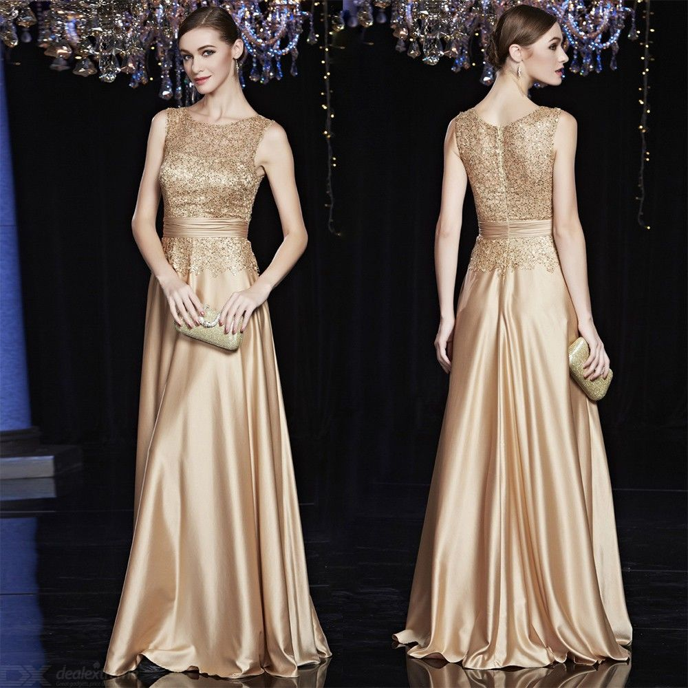 Satin-Gold-Royal-Evening-Maxi-Dress-Elegant-Sleeveless-Formal-Party-Gowns-For-Women-Mother