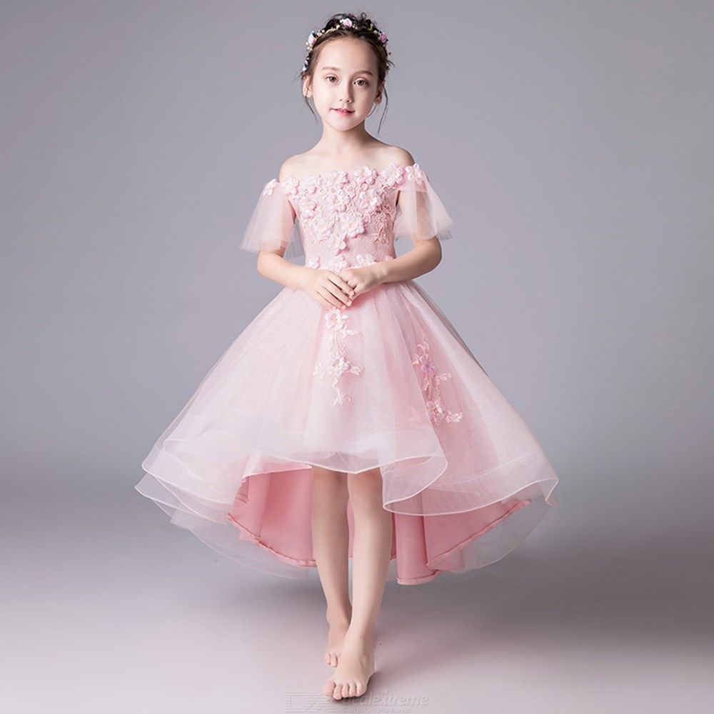 Kids-Dress-Off-Shoulder-Princess-Lace-Chiffon-Ball-Gown-Dresses-For-Girls