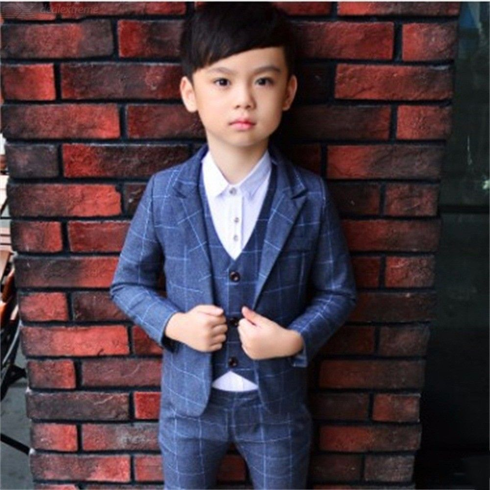 Kid Suits Boys Single Breasted Button Special Wedding Attire Jacket Pants Vest Set