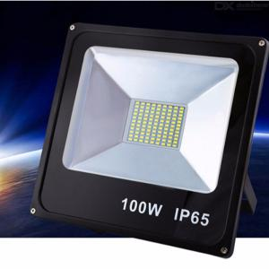 LED Floodlight 100W Ultra Thin Spotlight Waterproof Outdoor Wall Advertising Lamp