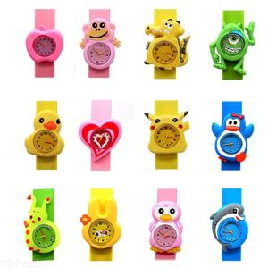 Children Watch Cartoon Silicone Tape Patted Sports Bracelet Kids Watches Random Color