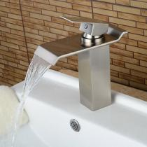 Brass-Deck-Mounted-Waterfall-Ceramic-Valve-One-Hole-Nickel-Brushed-Bathroom-Sink-Faucet-with-Single-Handle