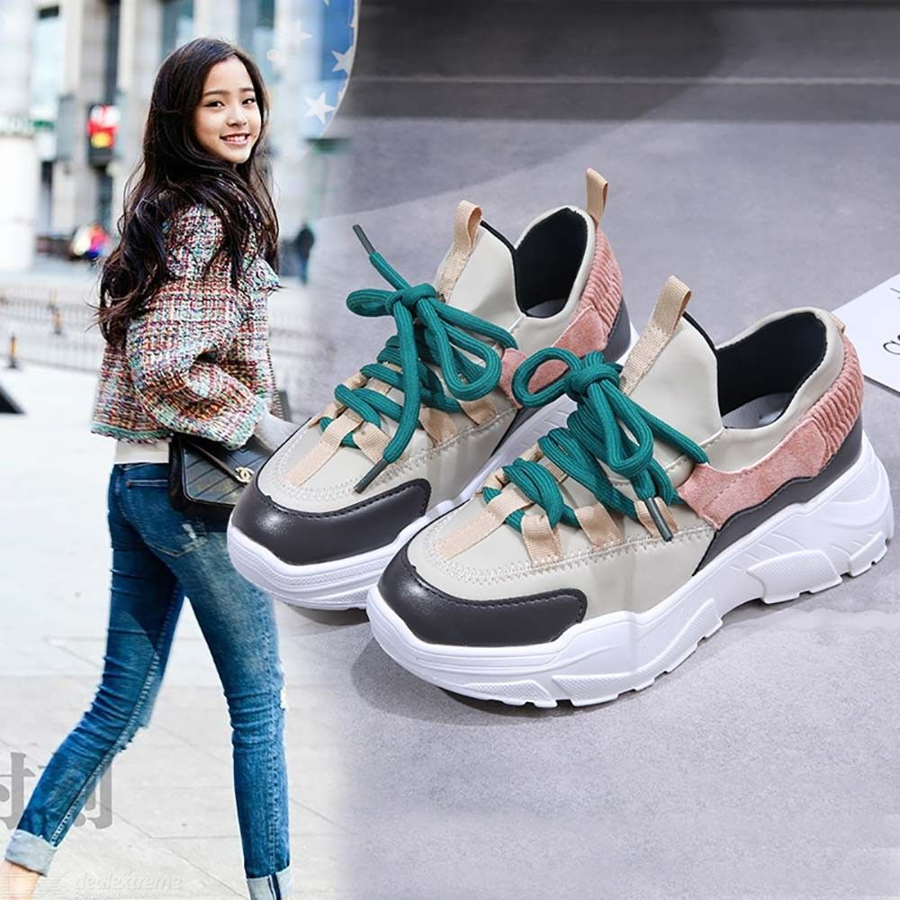 Spring Autumn Women Casual Shoes Comfortable Patchwork Platform Sneakers For Women