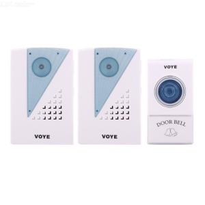 Wireless Remote Anti-Jamming Electronic Door Bell Senile Caller With Two Rings Of DC