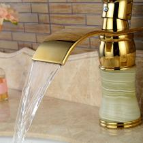 F-0780G-Brass-Waterfall-Deck-Mounted-Ceramic-Valve-One-Hole-Marble-Ti-PVD-Bathroom-Sink-Faucet-with-Single-Handle