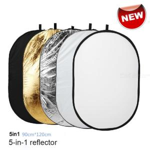90 X 120cm Collapsible Reflector 5-in-1 Oval Camera Lighting Reflecting Kit