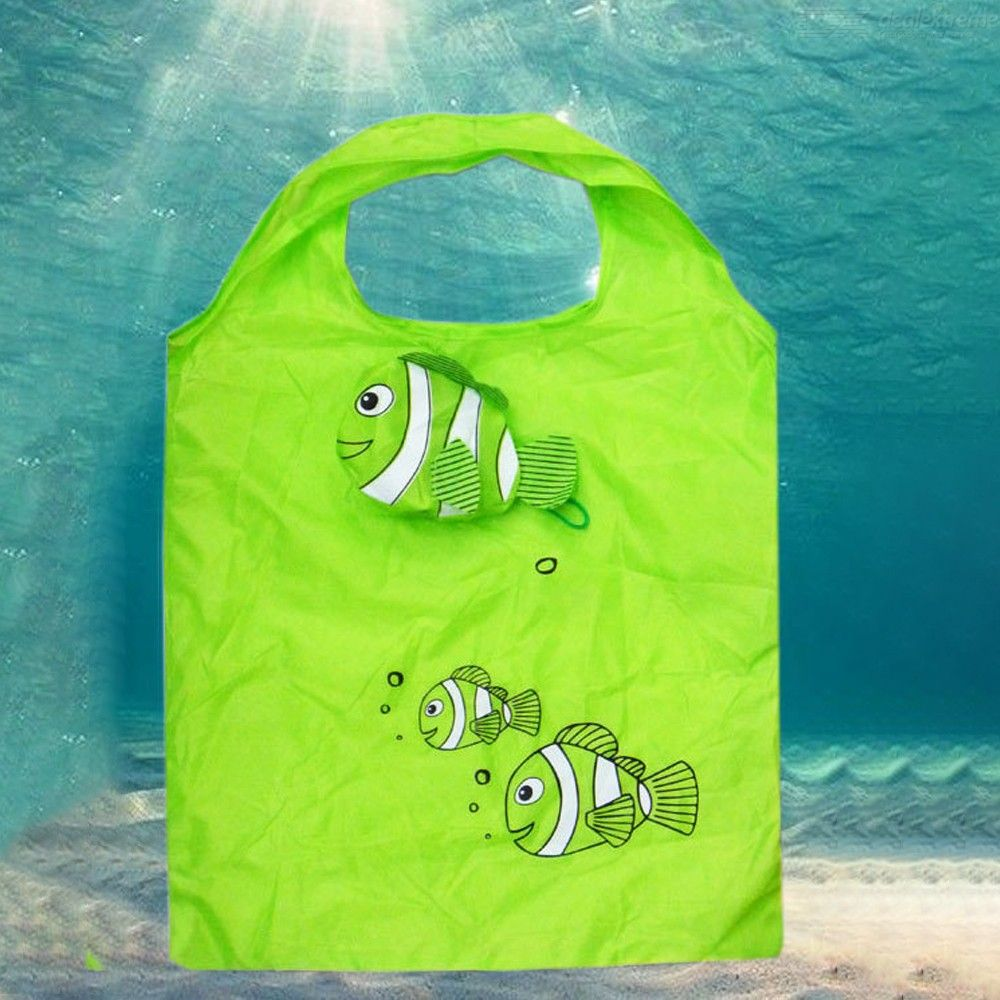 Little Fish Reusable Folding Shopping Bag Travel Grocery Tote Handbags