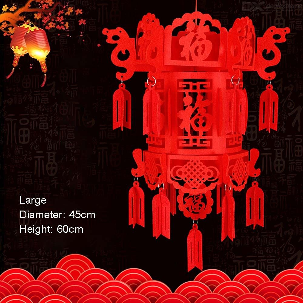 Rectangular Chinese Lantern Spring Festival Decoration For Shopping Mall