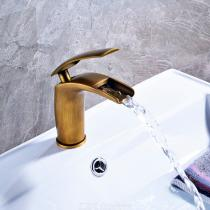F-0838A-Antique-Brass-Single-Handle-One-Hole-with-Ceramic-Valve-Bathroom-Sink-Faucet
