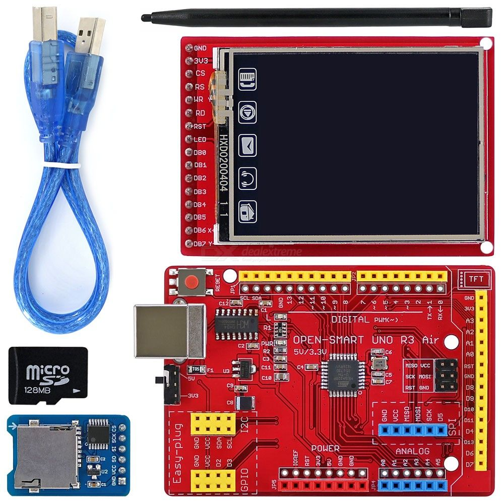 OPEN-SMART-20-inch-176*220-TFT-LCD-Touch-Screen-Breakout-Board-Module-Kit-with-TF-Card-for-Arduino-UNO-R3-Nano